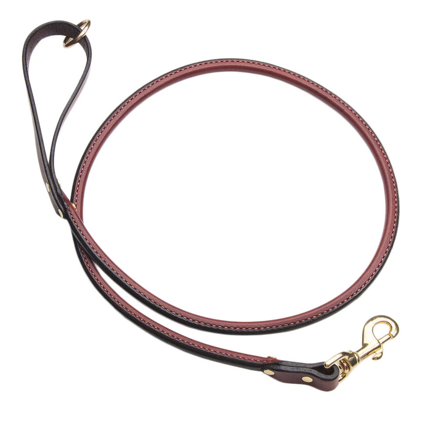 purple leather rolled dog leash