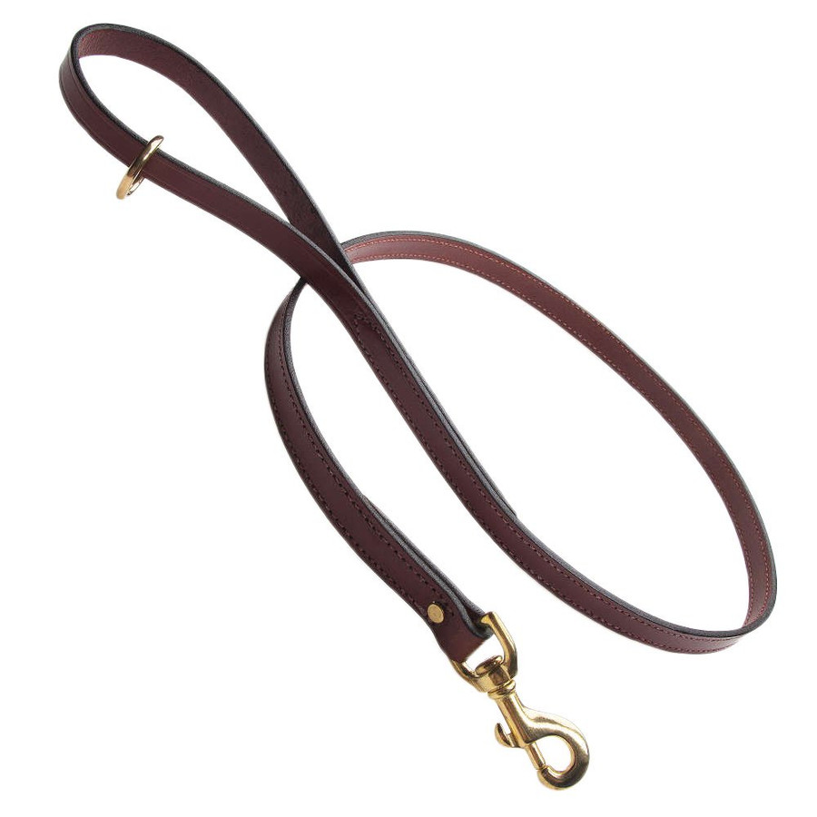 Mendota English Bridle Leather Snap Lead