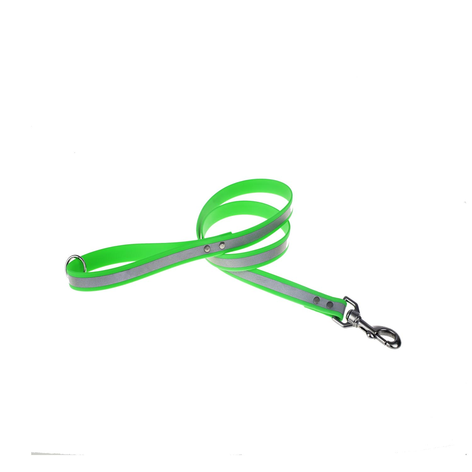 Reflective Waterproof Soft Grip Snap Leash Lime Green
