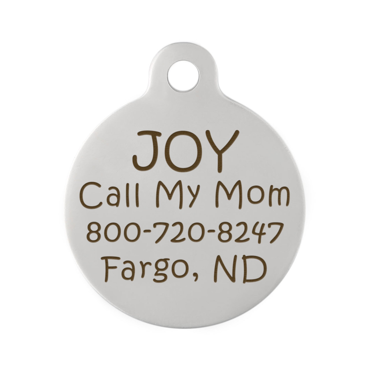 Back Design Dog ID Tags - Backside