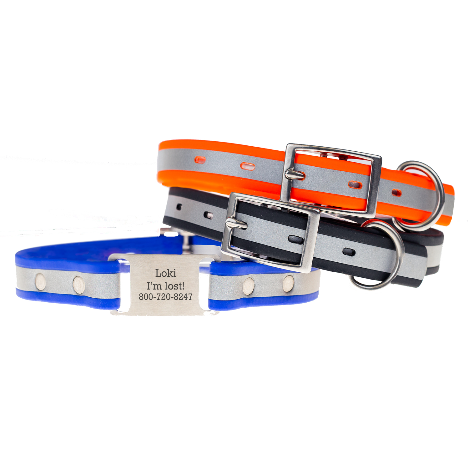 reflective waterproof scrufftag collar group 1