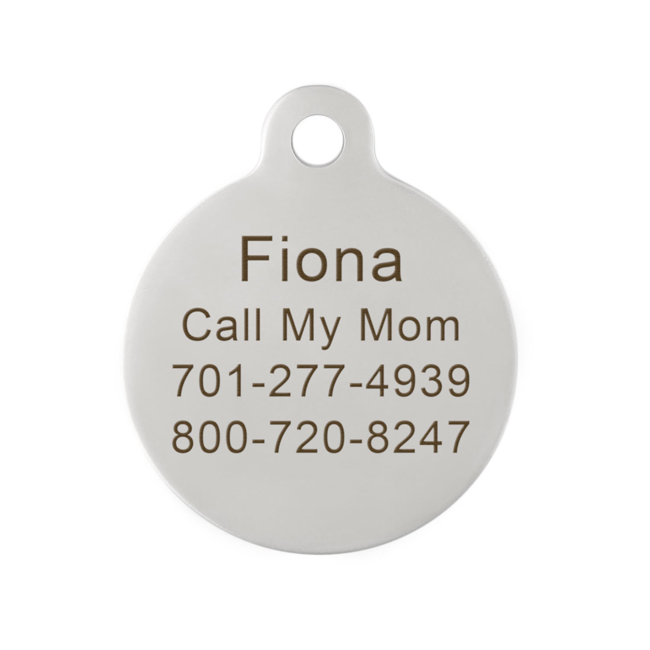 Have Your People Call My People ID Tag Engraving on Back