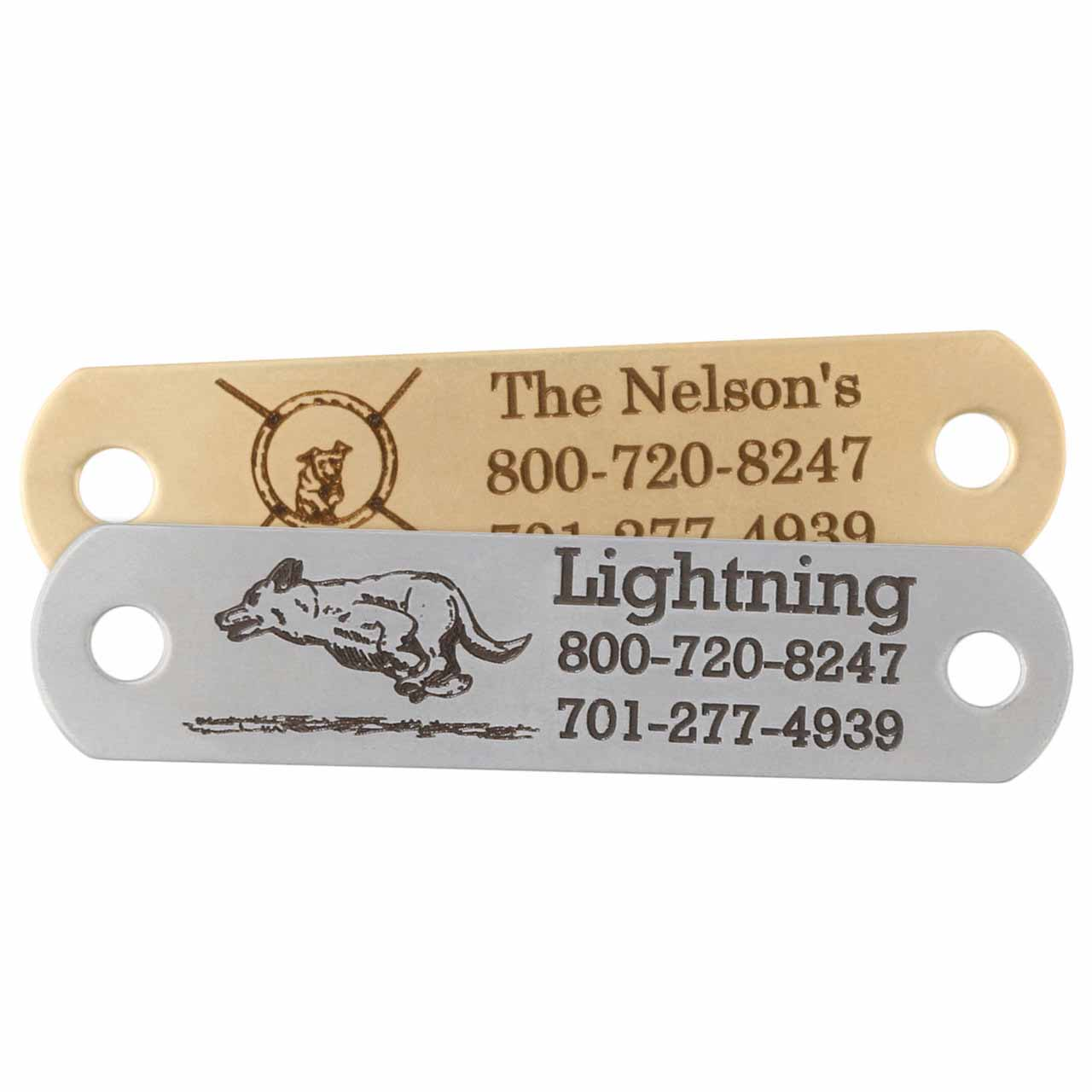Sport Dog Rivet-On Dog Collar Name Plates