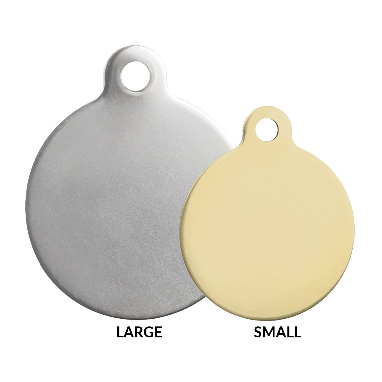 Round Tags Size Comparison