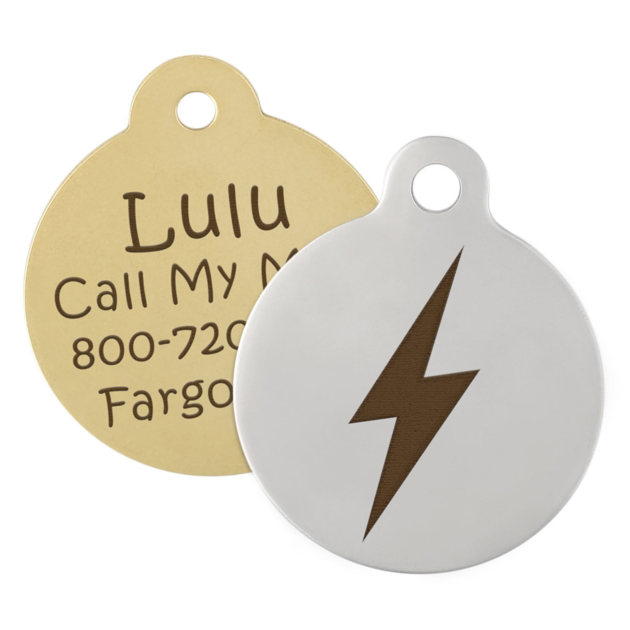 Lightning Bolt Dog ID Tag