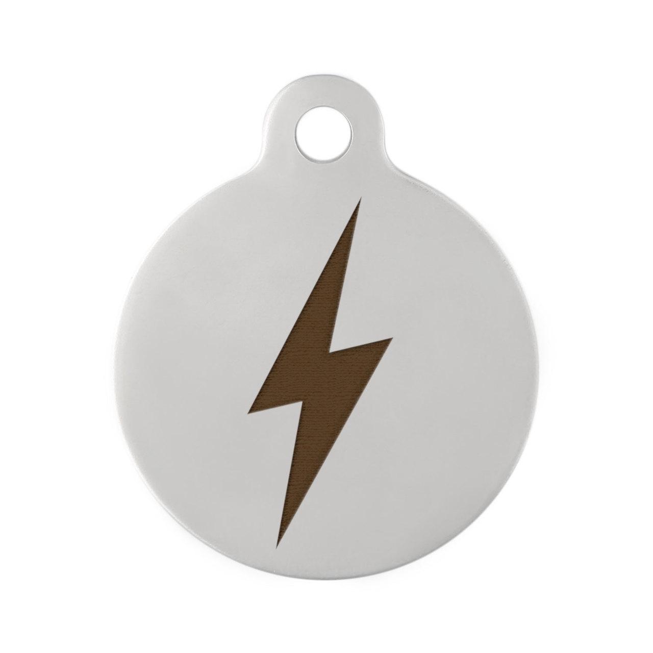 Lightning Bolt Dog ID Tag Stainless