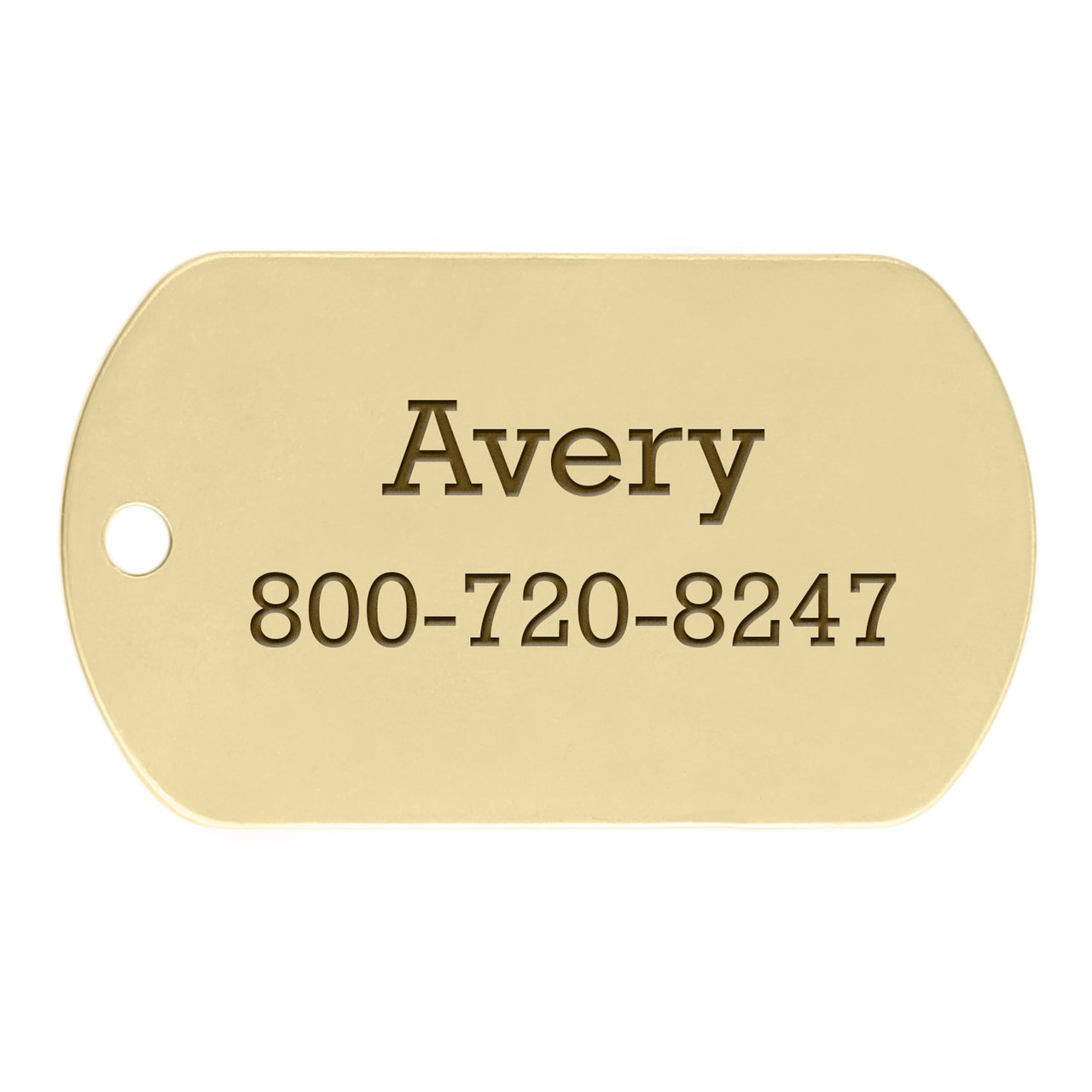 Military Dog ID Tags - Brass