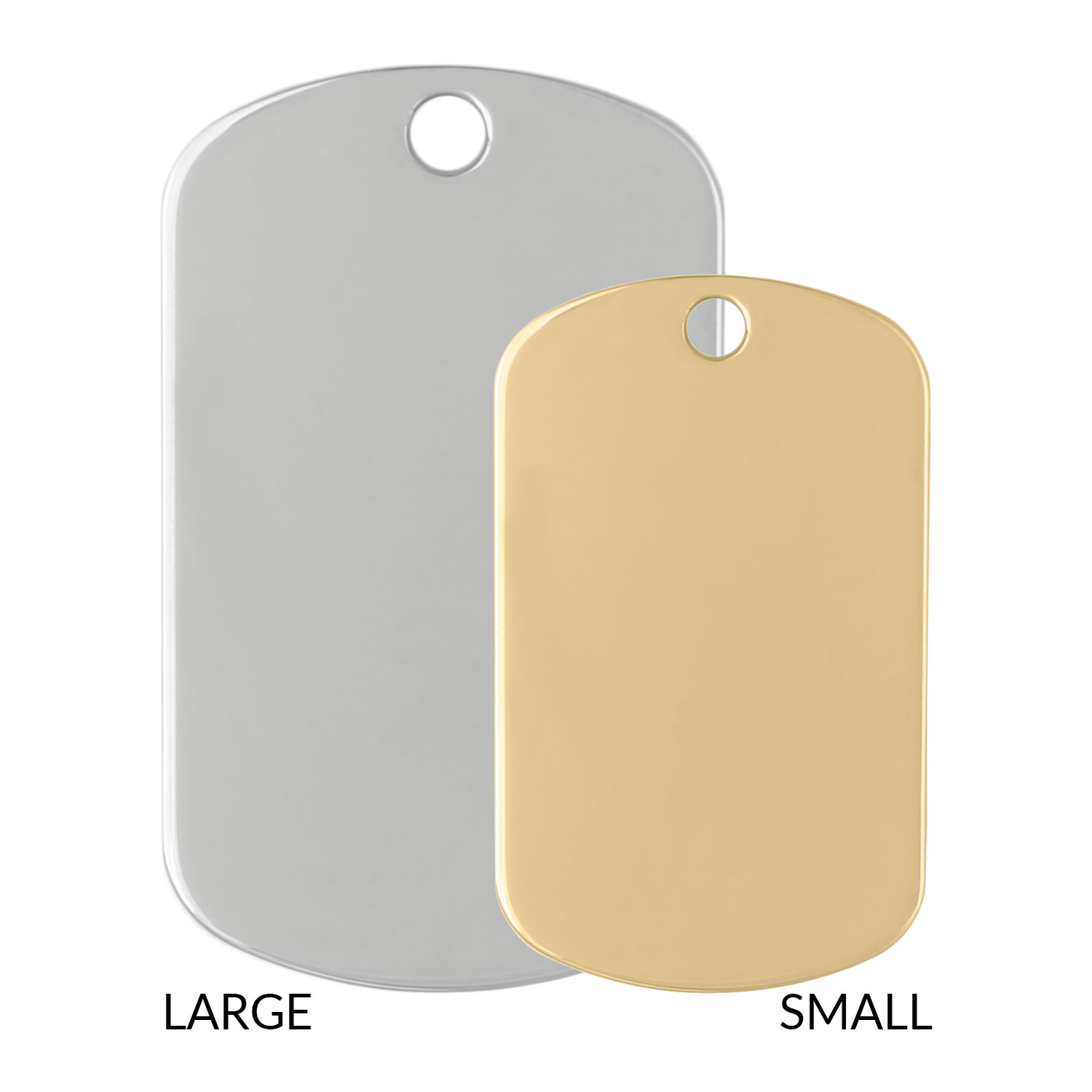Military Dog ID Tag Sizes Comparison