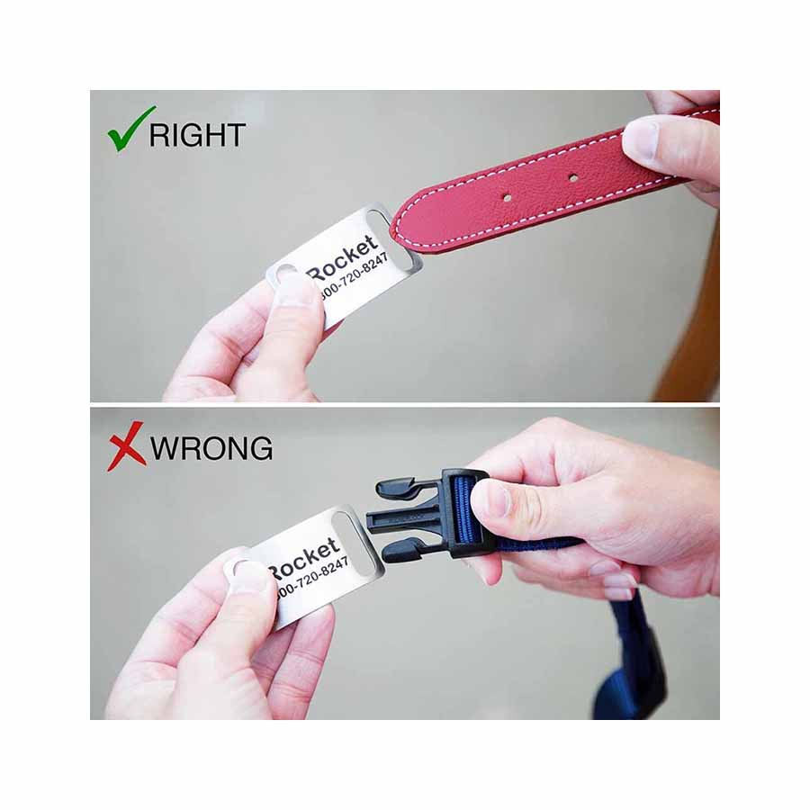 Slide-On Dog ID Tags - Right & Wrong ways to use it.