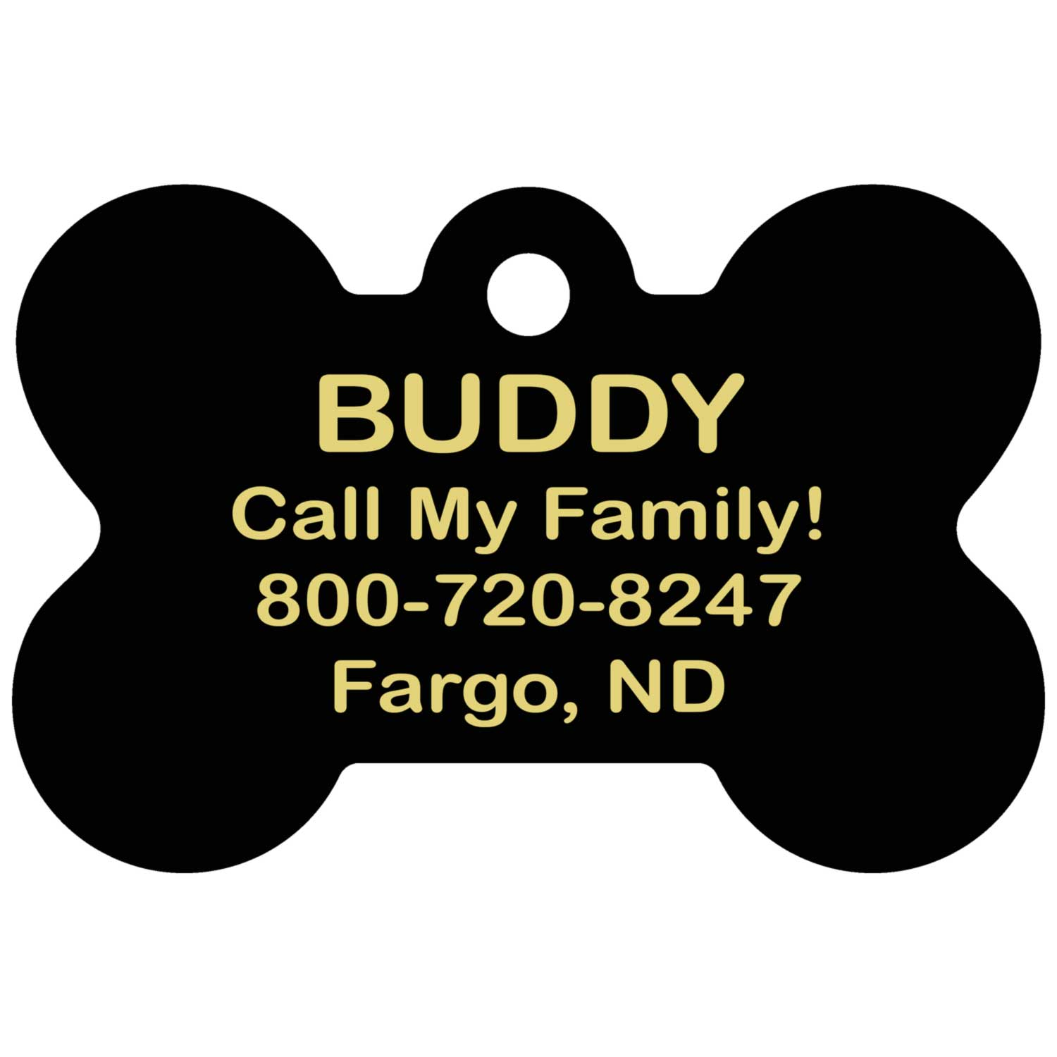 San Francisco 49ers Pet ID Tag - Text on Backside
