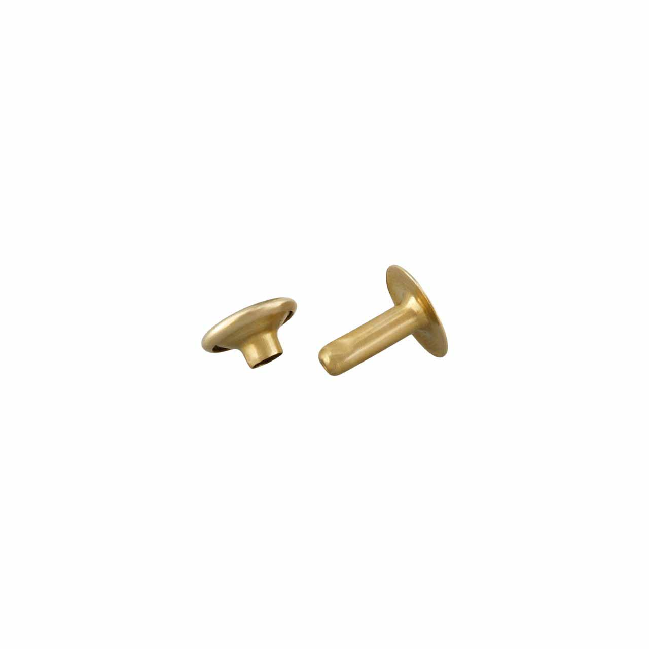 Two Piece Rivet Brass