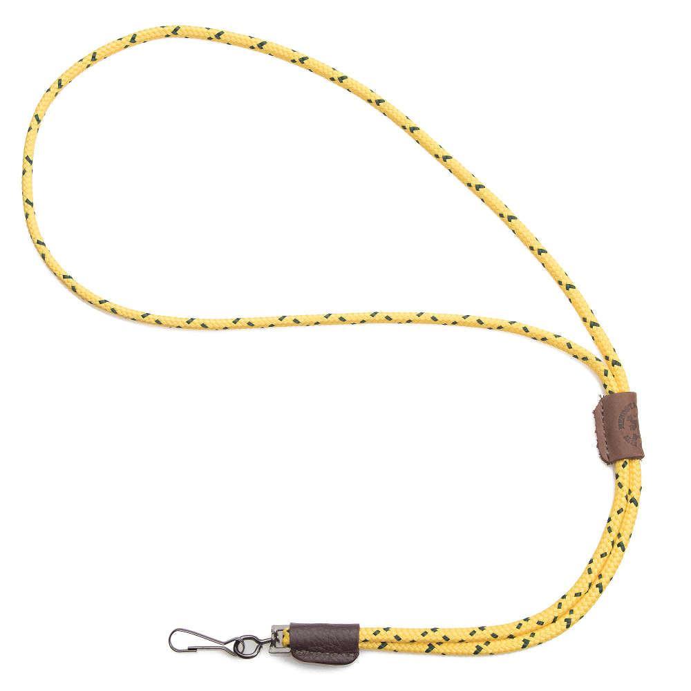 Mendota Braided Whistle Lanyard Single Hi-Viz yellow
