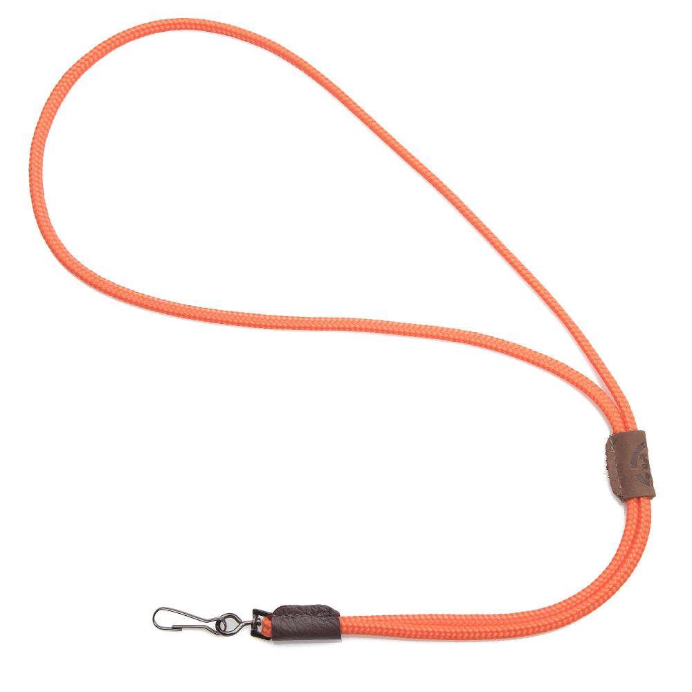 Mendota Braided Whistle Lanyard Single Orange