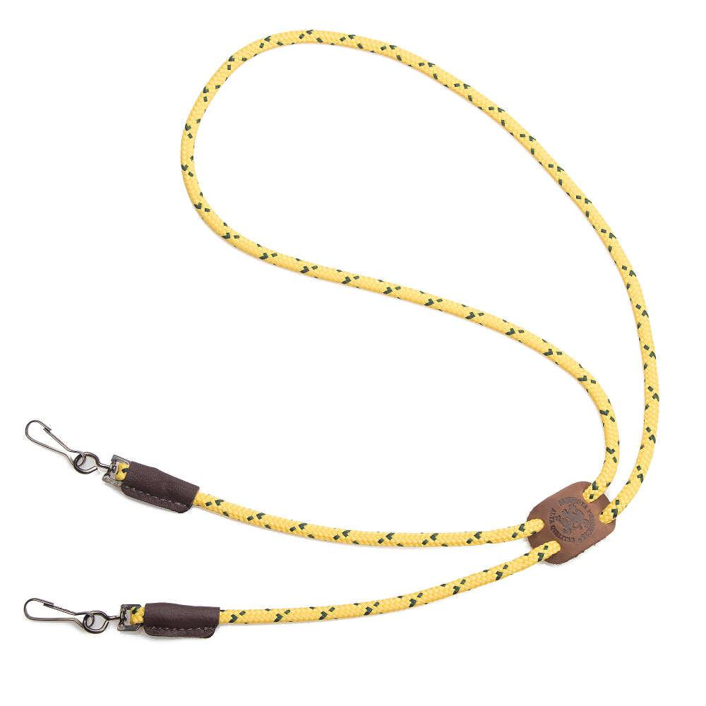 Mendota Braided Whistle Lanyard Double Hi-Viz Yellow
