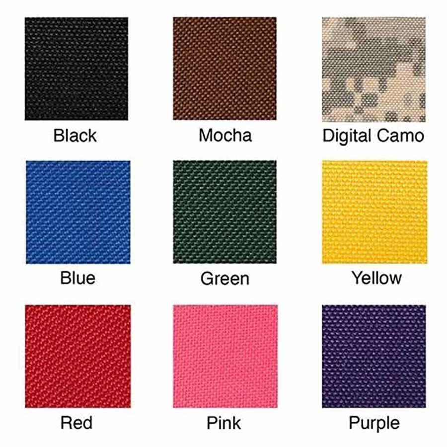 Personalized Dog Backpack Color Swatches