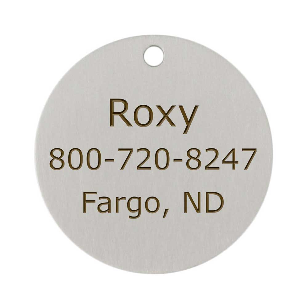 Enamel Designer Dog ID Tags by Andrew Back of Tag Personalized