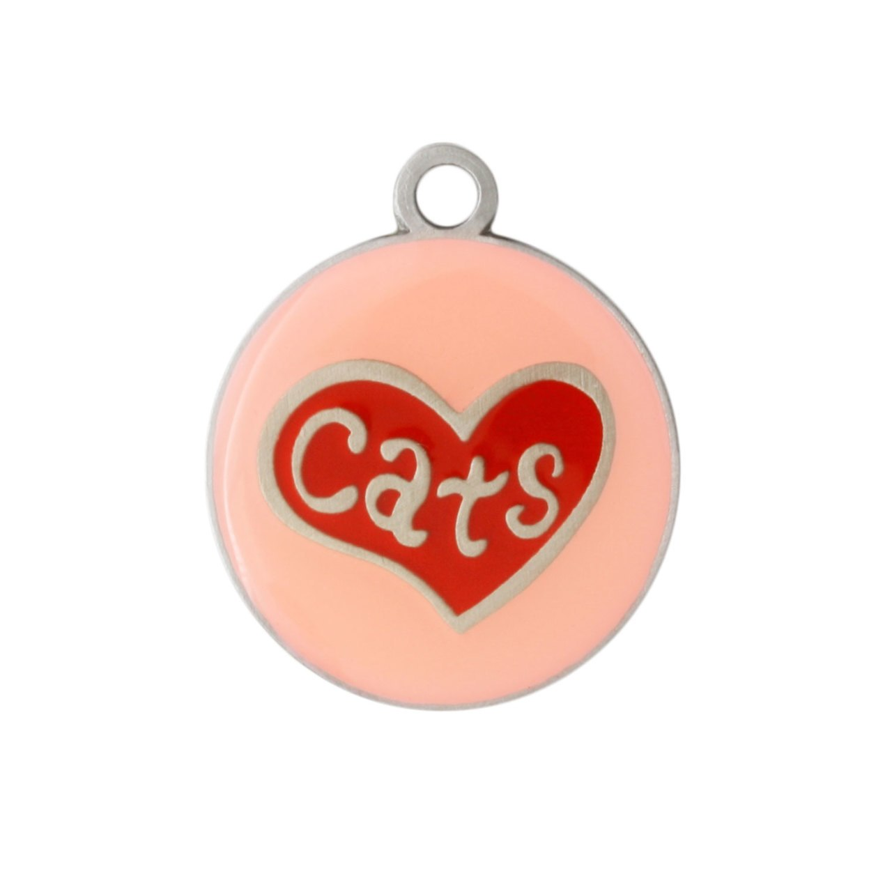 Painted Designer Cat ID Tags by Andrew Cat Heart