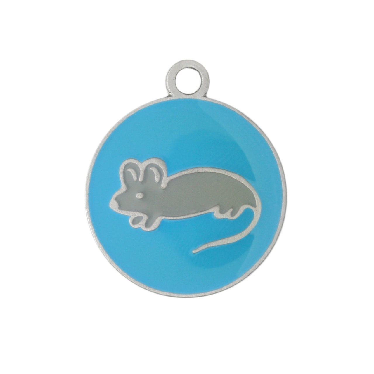 Painted Designer Cat ID Tags by Andrew Blue Mouse