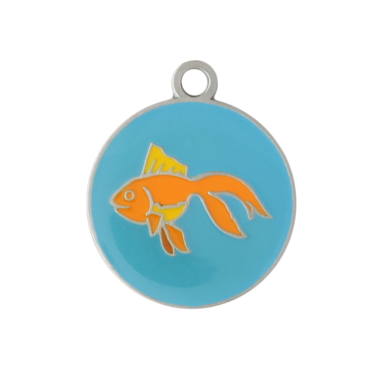 Painted Designer Cat ID Tags by Andrew Blue Fish