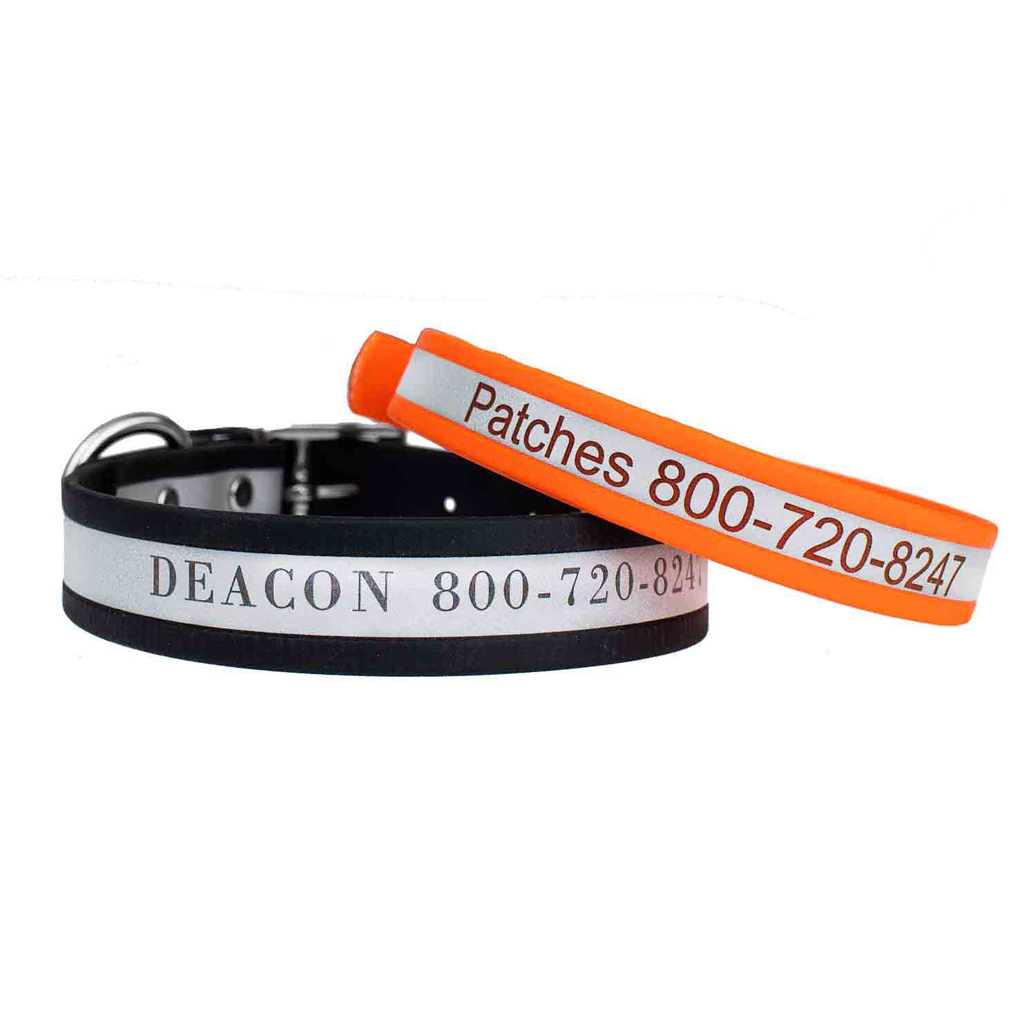 Engraved Reflective Waterproof Soft Grip Dog Collar Group