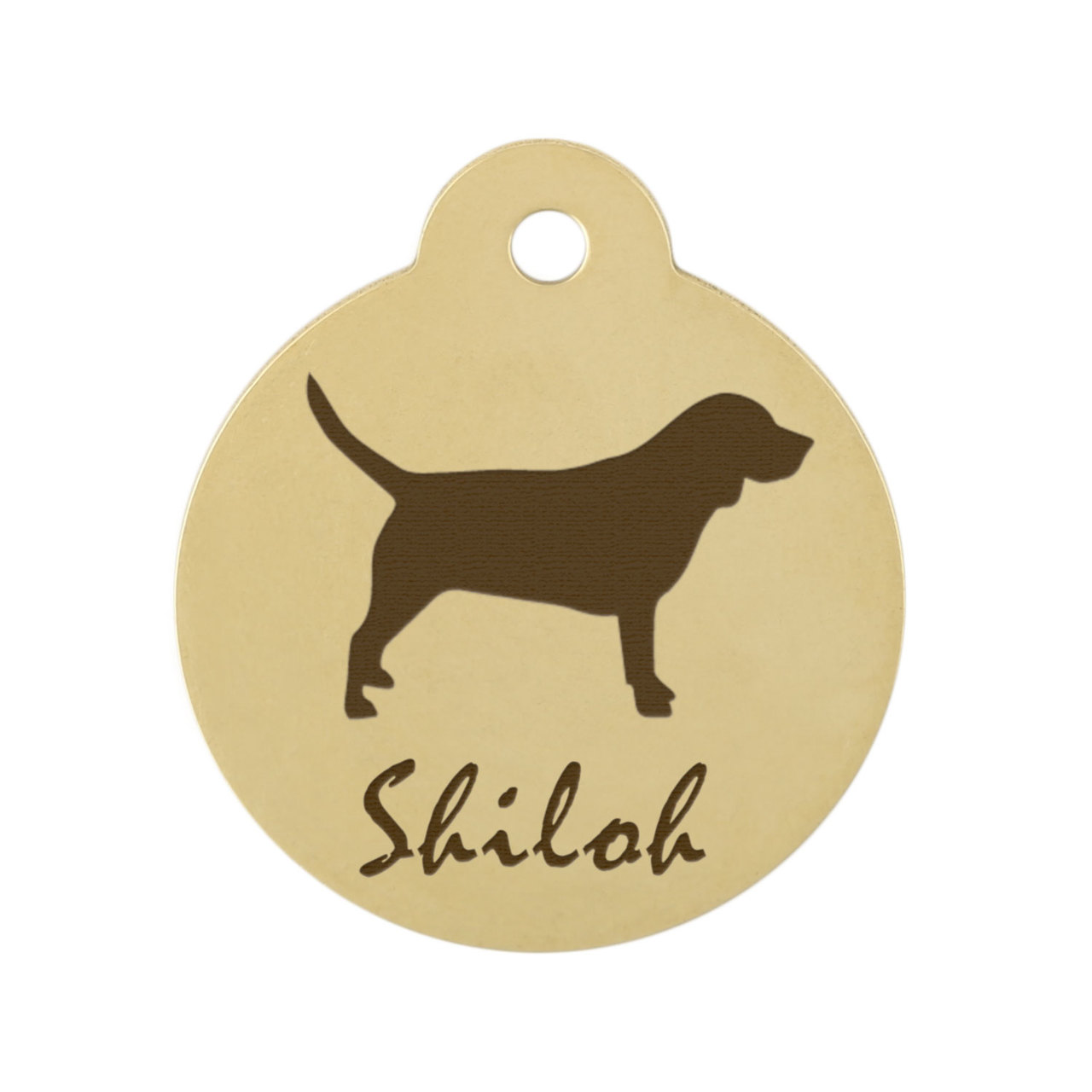 Custom Dog Breed ID Tags - Brass Beagle