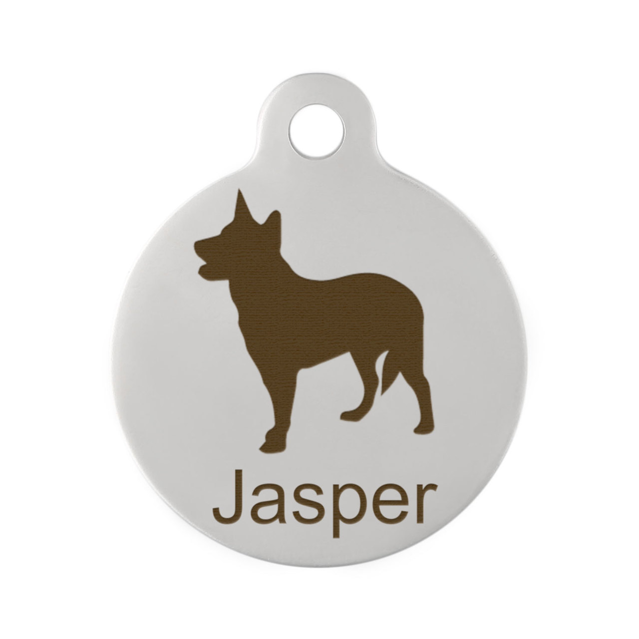 Custom Dog Breed ID Tags - Stainless Steel Australian Cattledog