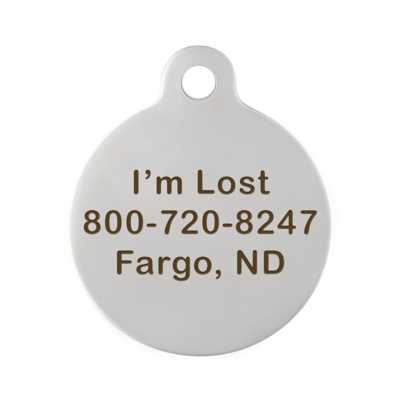 Custom Dog Breed ID Tags - Back Engraving Stainless Steel