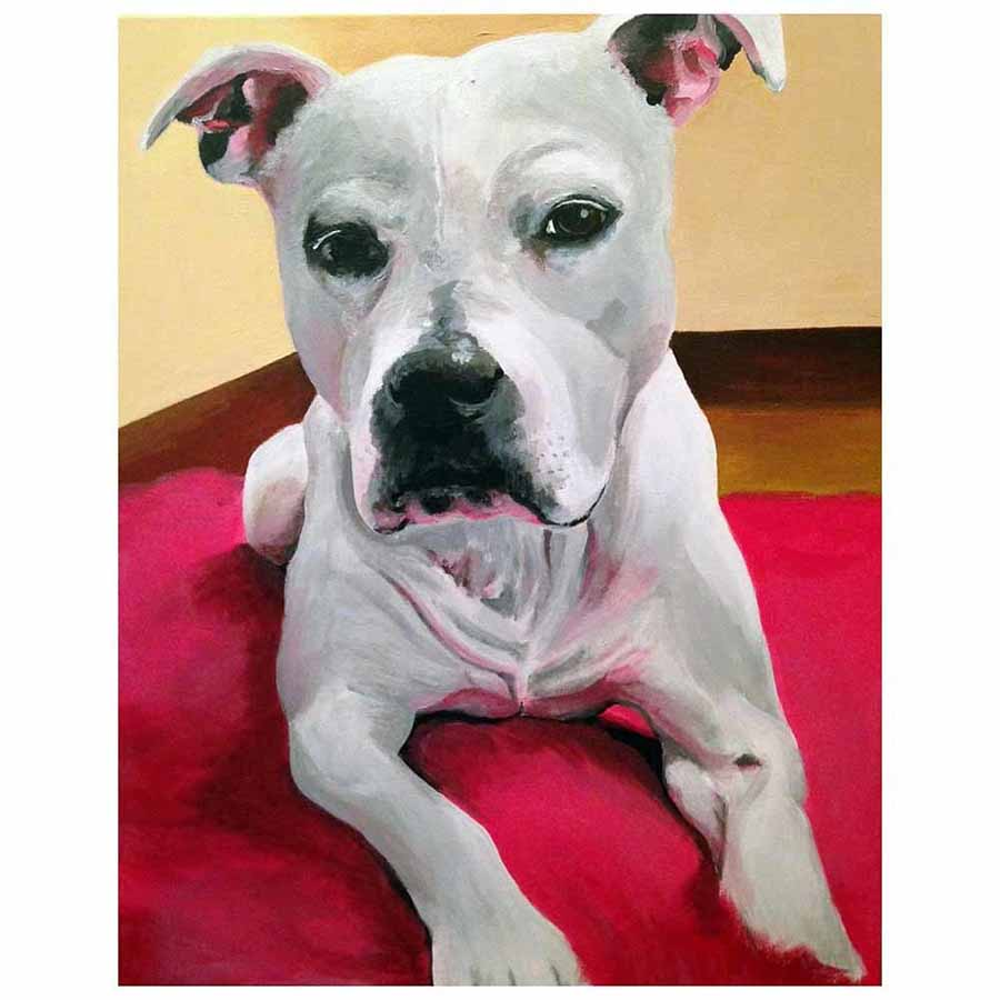Hand-Painted Custom Pet Portrait 1