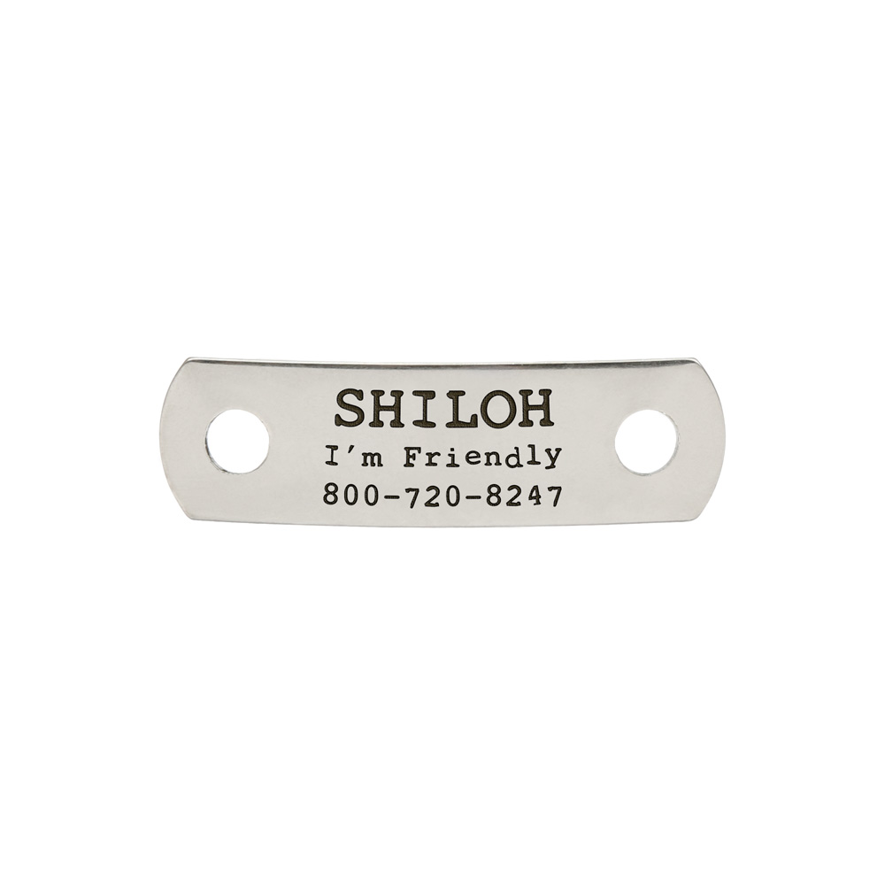 Rivet-On Dog Collar Name Plate Small Stainless Steel