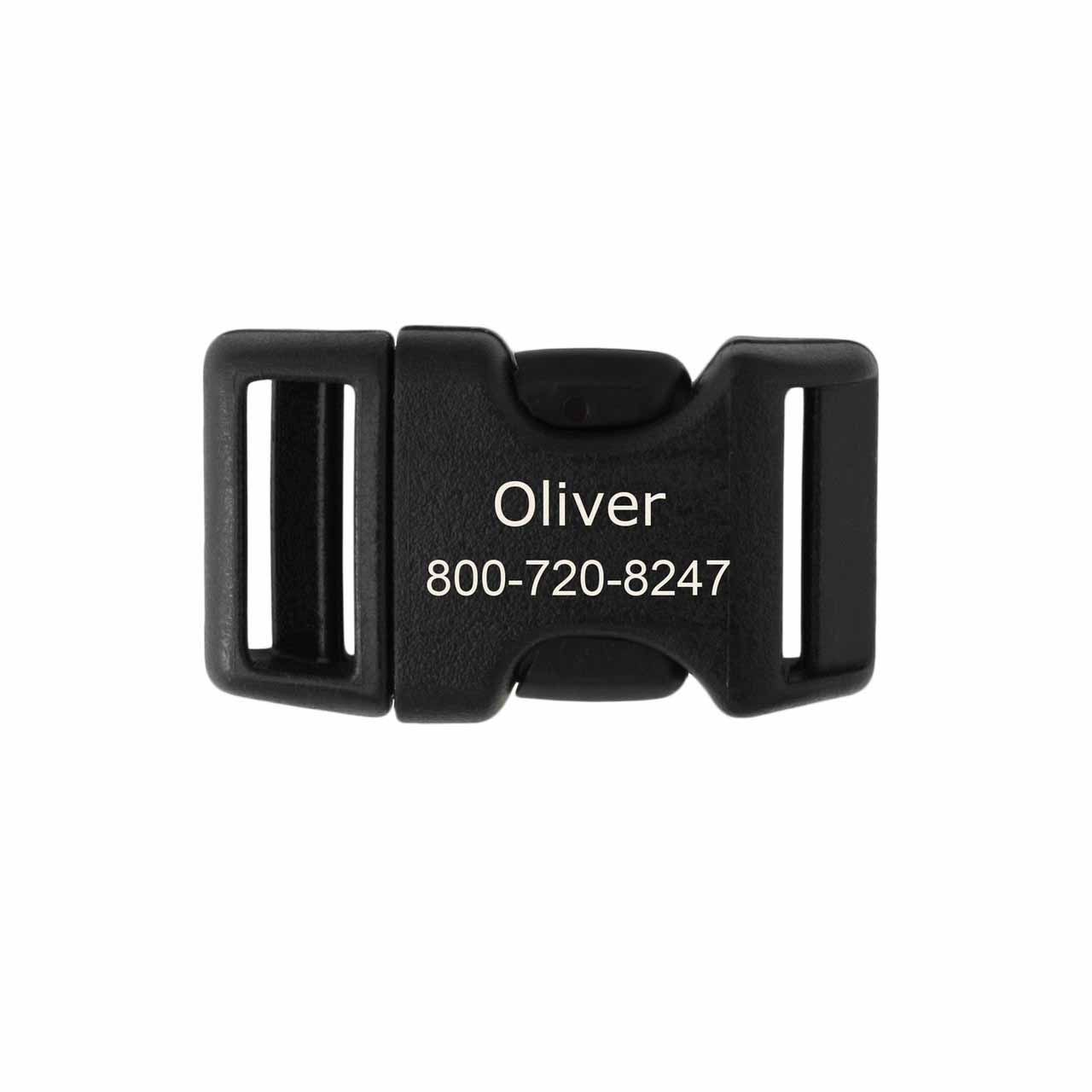 Laser Engraved Plastic Buckle Medium