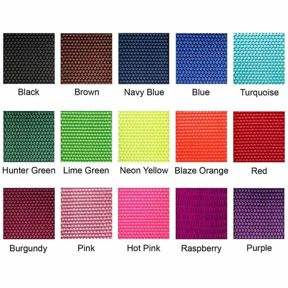 Nylon Webbing Color Swatches