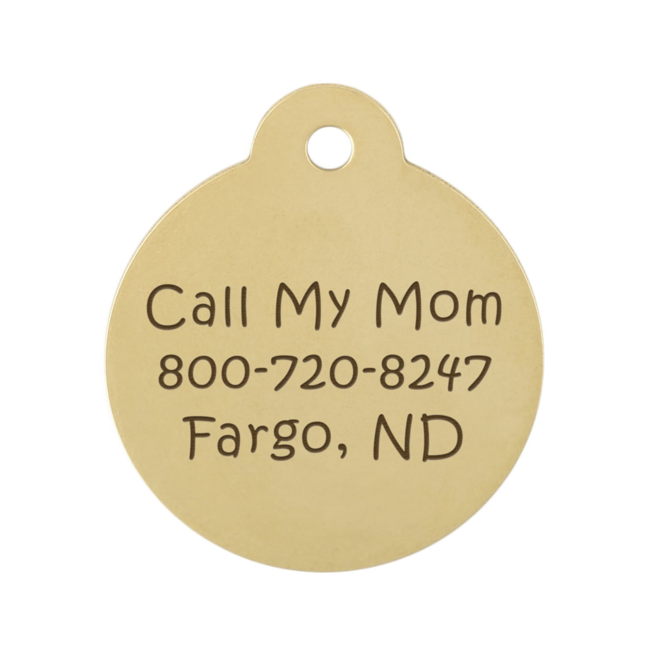 State Pet ID Tags - Back Engraving Brass