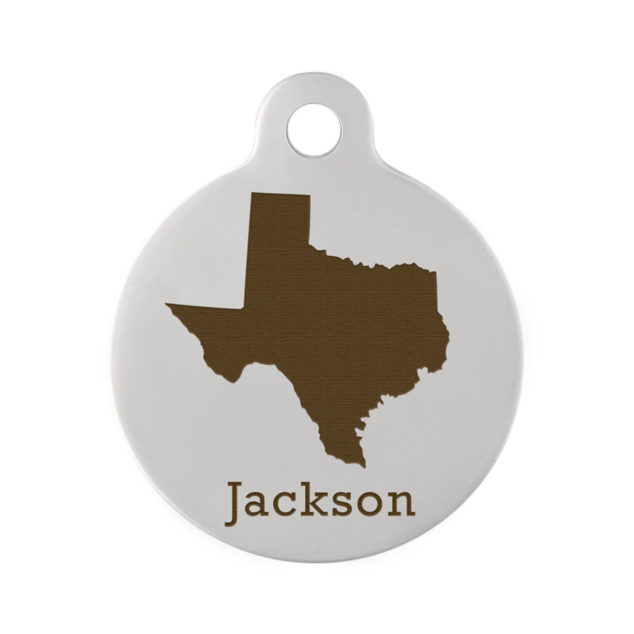 State Pet ID Tags - Texas Stainless Steel