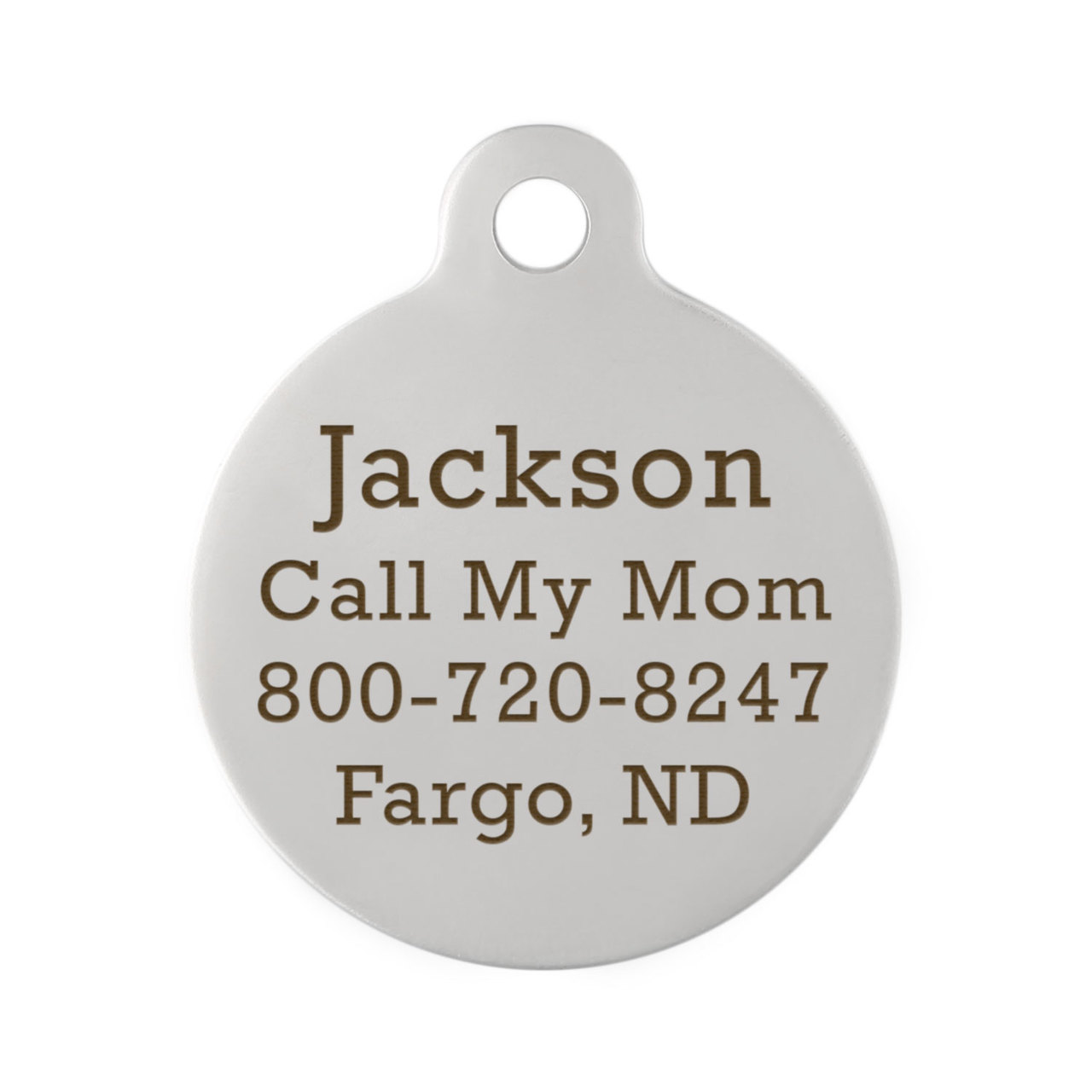 State Pet ID Tags - Back Engraving Stainless Steel