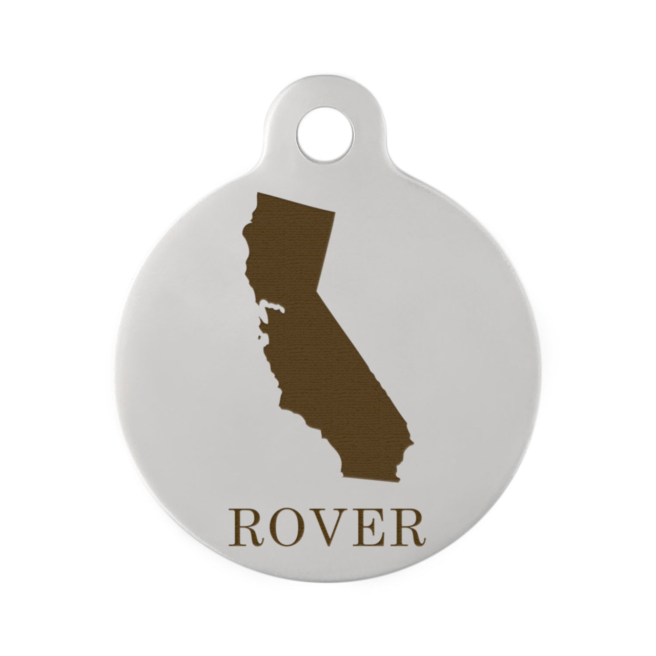 State Pet ID Tags - California Stainless Steel
