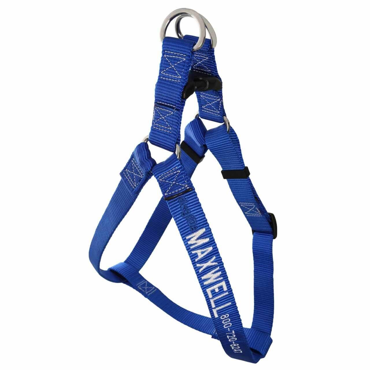Embroidered Nylon Step-In Dog Harness