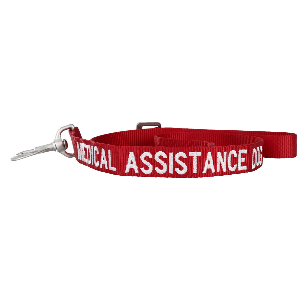 Embroidered Awareness Dog Leash - Red with White