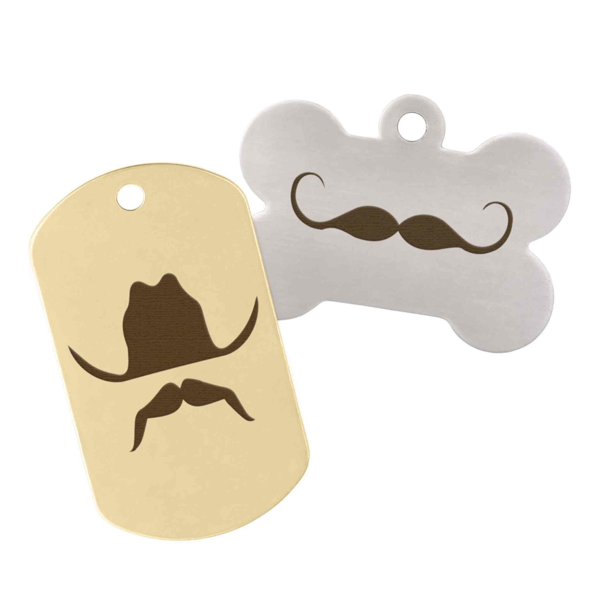 gold and silver wild west tags