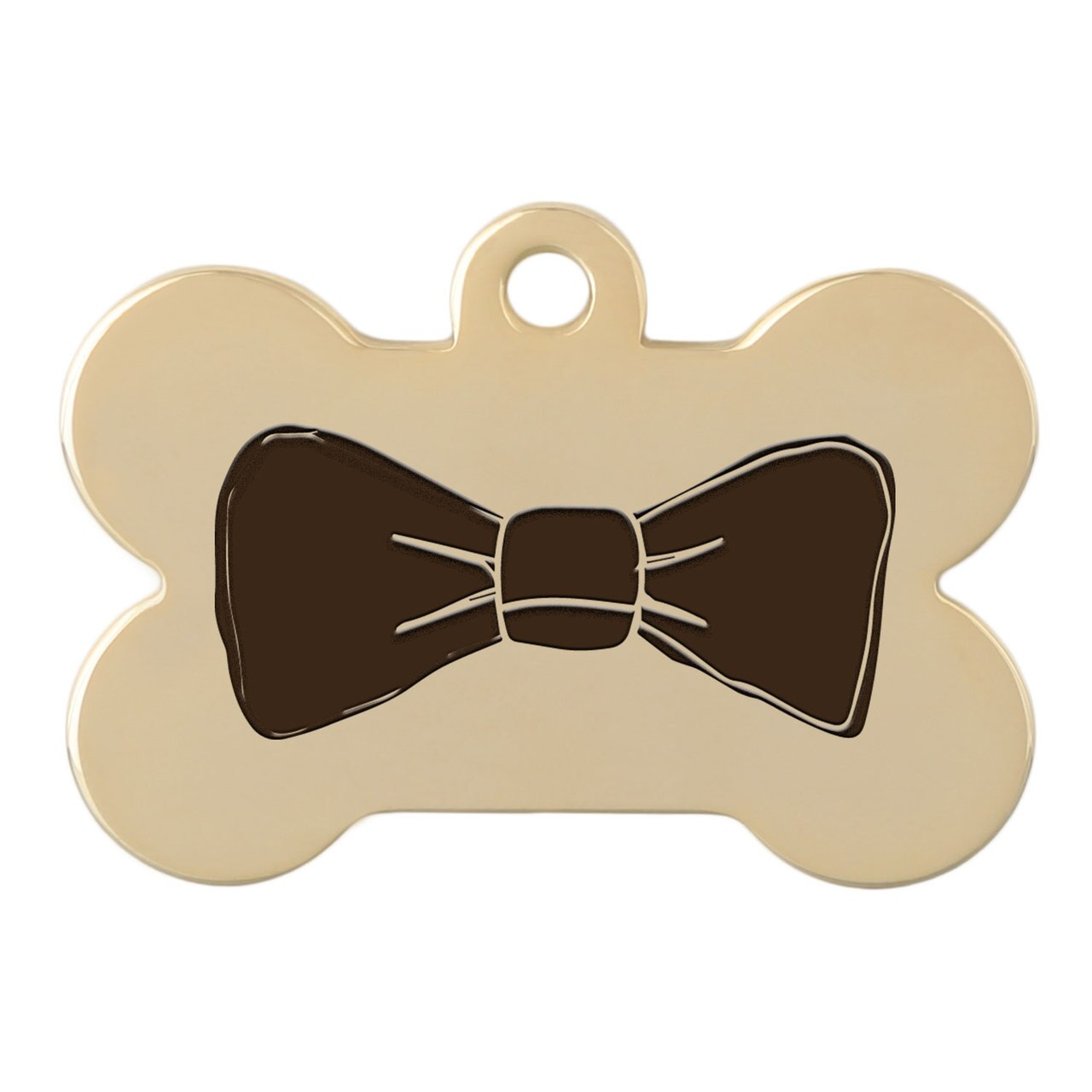 dogIDs Signature Fancy Suit and Tie Dog ID Tags Bow Tie Gold