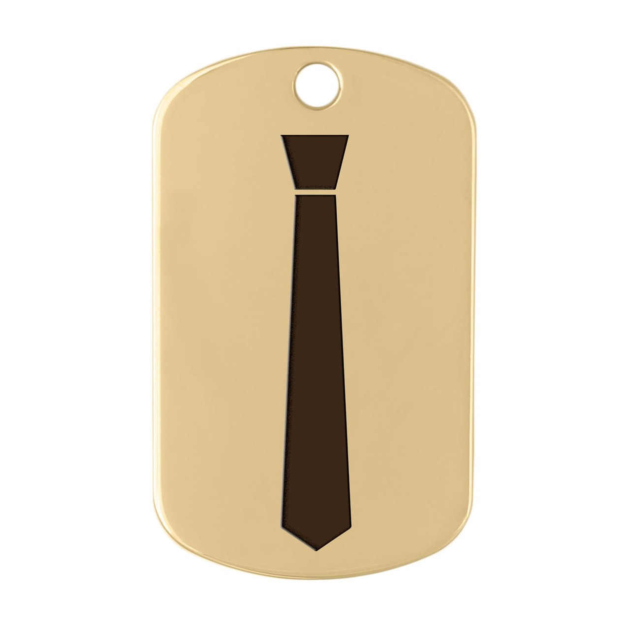 dogIDs Signature Fancy Suit and Tie Dog ID Tags Necktie Gold