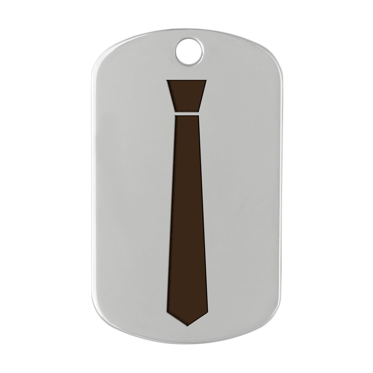 dogIDs Signature Fancy Suit and Tie Dog ID Tags Necktie Silver