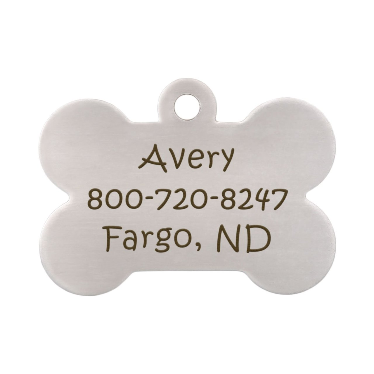 Call My People Pet ID Tag - Back Of Bone Tag