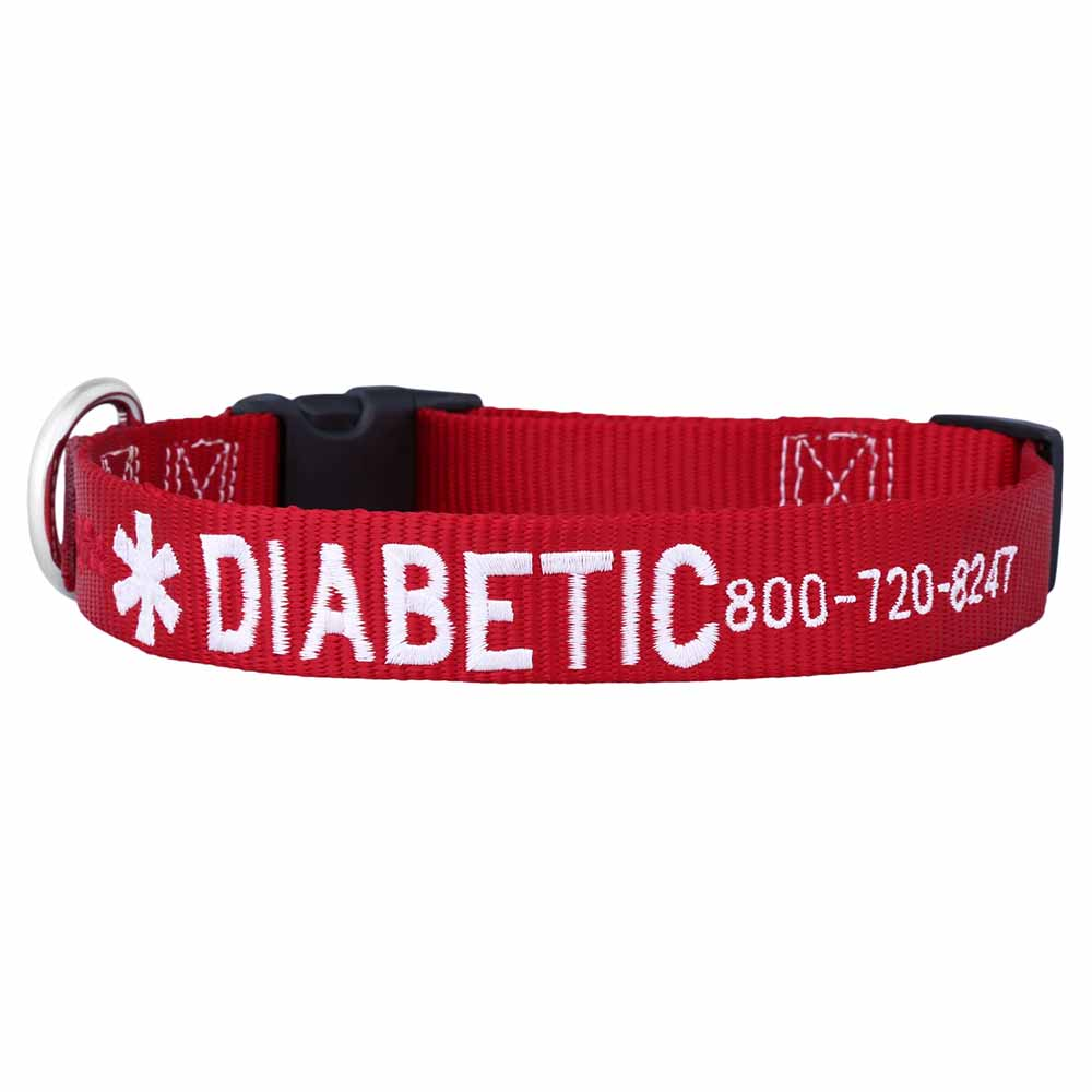 Embroidered Medical Alert Dog Collar