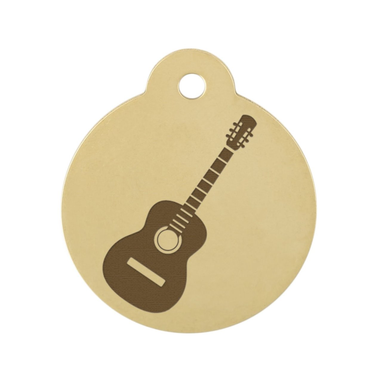 Acoustic Guitar Dog Tag On Brass
