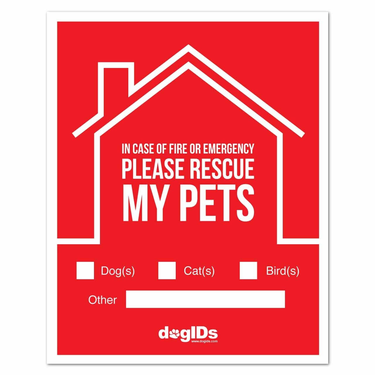 Please Rescue My Pet Window Stickers
