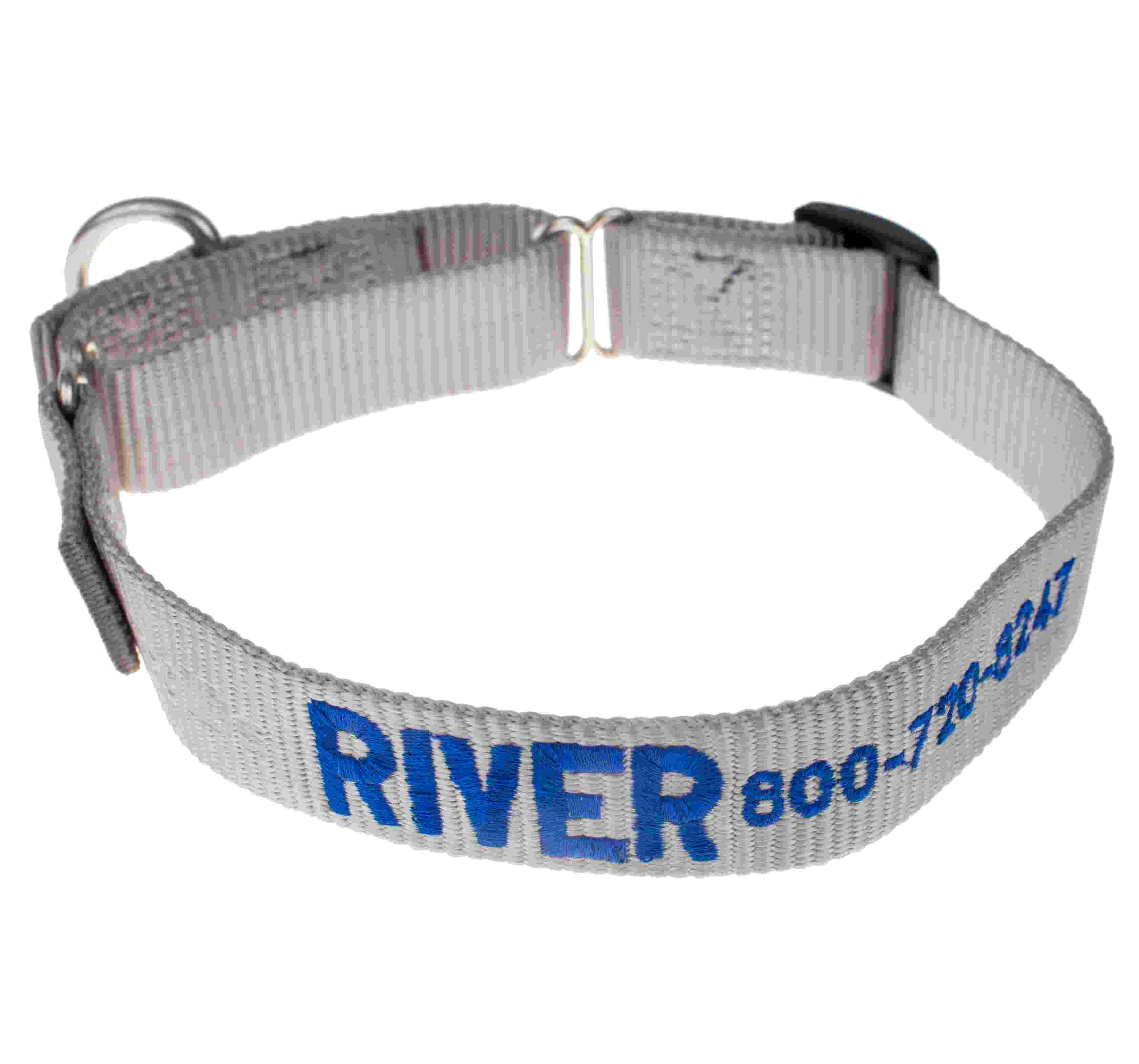 Embroidered Martingale Nylon Dog Collars