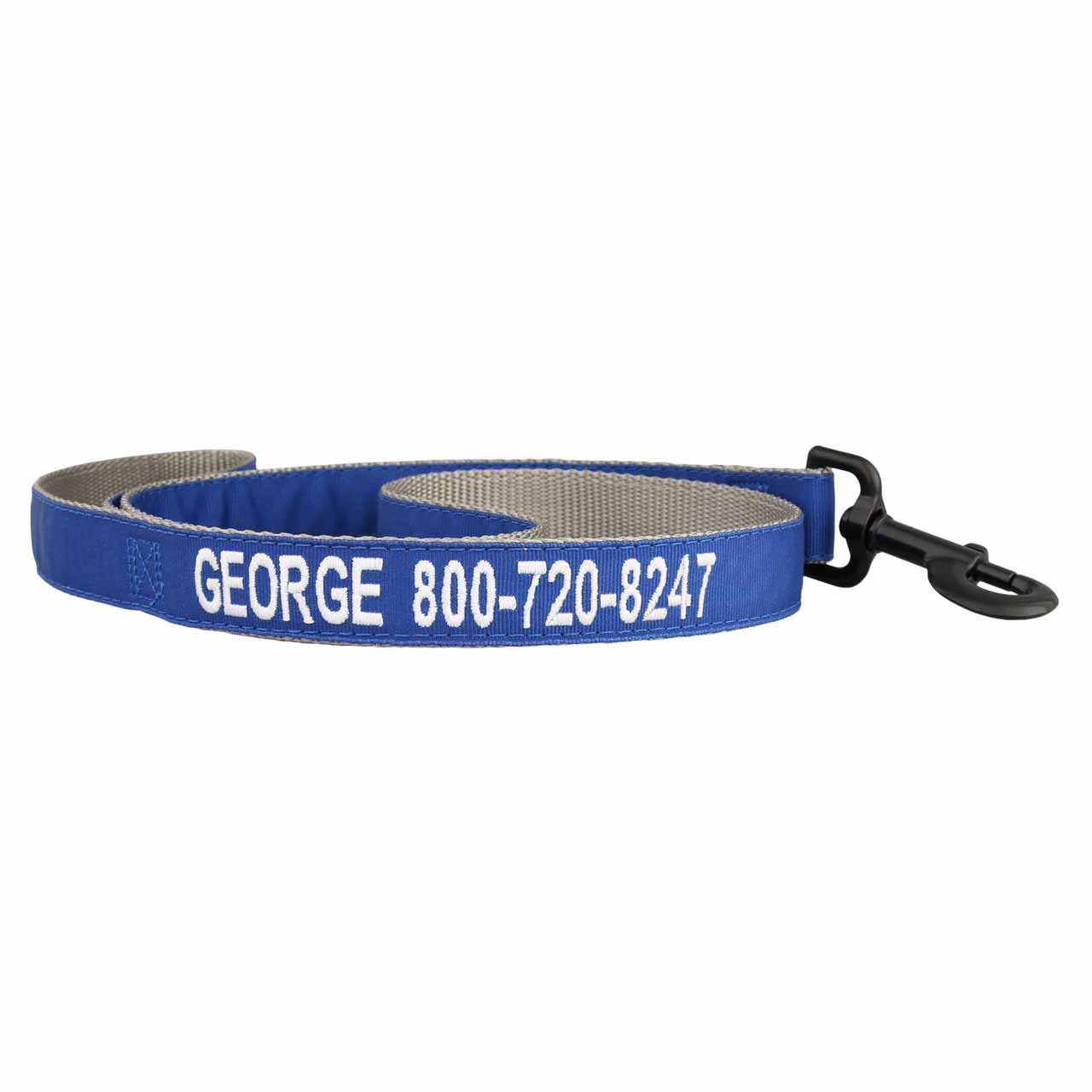 Embroidered Solid Color Personalized Dog Leash