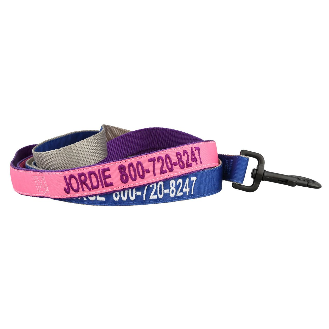 personalized nylon leash