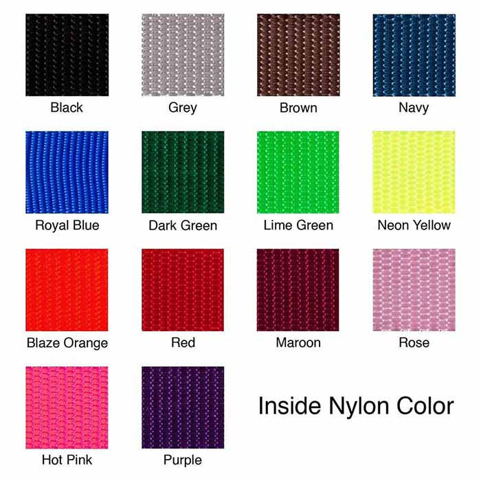 embroidered dog collar swatches - 1