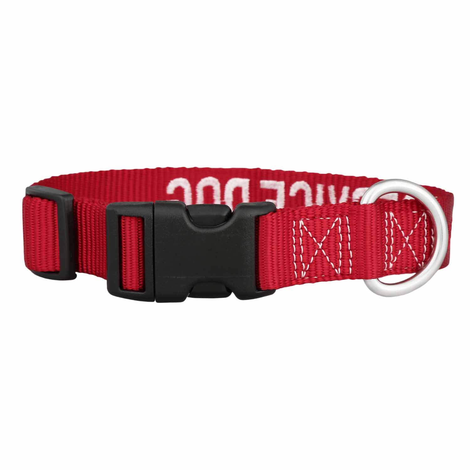 Embroidered Service Dog Collar Buckle View